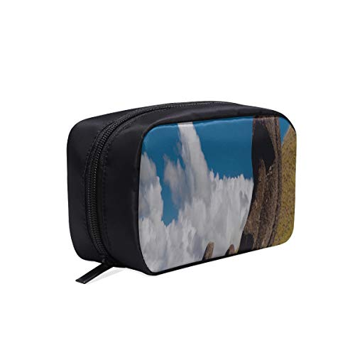 (Your Home Makeup Case Bag Chile Easter Island Rapa Nui Moai Statue Carved Image Idol Appropriate Capacity Portable Beauty Girl And Women Cosmetic Bags Storage Bags For Travel )