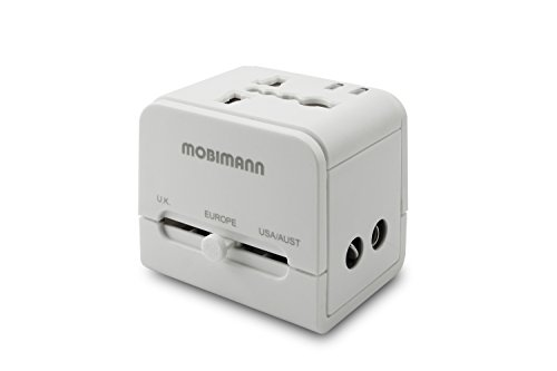 Mobimann Universal World Travel Adapter - UK, US, AU, Europe Plug Adapter - Over 150 Countries & Surge Protection