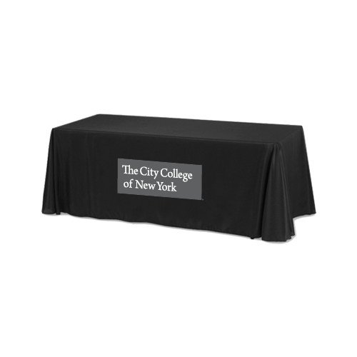 Black 6 foot Table Throw 'Official Logo' by CollegeFanGear
