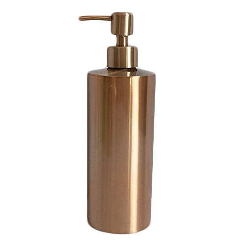 BTMB Full Stainless Steel Countertop Sink Soap Dispenser 550ML SH163 Rose Gold ()