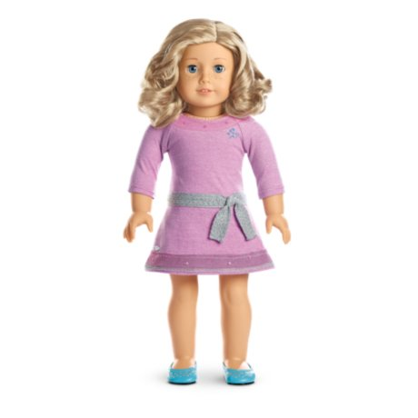 American Girl - Truly Me™ Doll: Light Skin with Freckles, Curly Blond Hair, Blue Eyes DN56 by American Girl