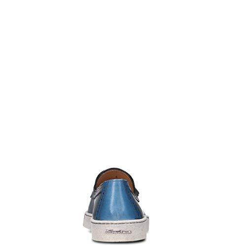 Pelle Mocassini Uomo MBGC20657PASKTISU50 Blu SANTONI SwXZxvS