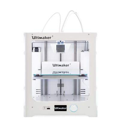 Impresora 3D Ultimaker 3, Doble Extrusor, USB