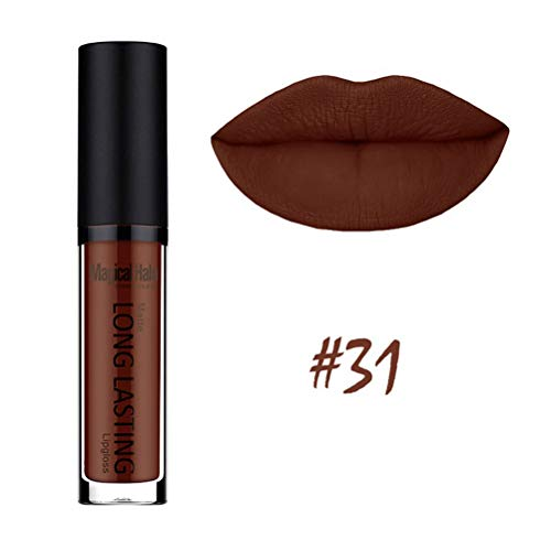 Matte Lipstick Marron Brown Lip Gloss Womens Colorstay Glossier Lipgloss Long Lasting Stay On ()