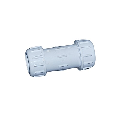 ValveUSA 410-010PV Schedule 40 PVC Compression Couplings, 1'' by Valve USA