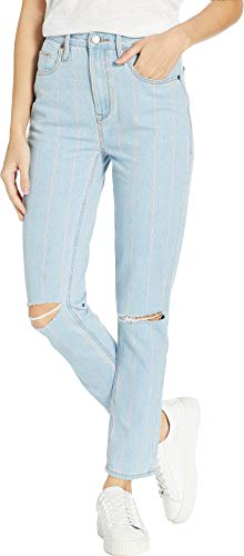 - Juicy Couture Women's Denim Pinstripe Jeans Blue Chill Washed 24 28