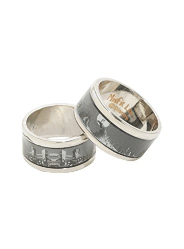 The Nightmare Before Christmas Jack & Sally Spiral Hill Ring Set