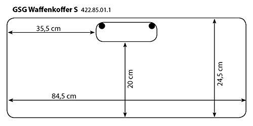 GSG Waffenkoffer / Hardcase mit Schaumstoffeinsatz 87 x 27 x 6.5 cm