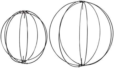 "Floral Garden (2) 3D Metal Wreath Orbs Circle Forms 2 Sizes 14"" & 10"" Wedding Décor Decorating Thanksgiving Halloween DIY Snowman Hanging - Steelpangal"