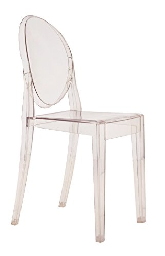 Louis Philippe Dining Room - Kartell Victoria Ghost Chair, Pack of 2, Crystal
