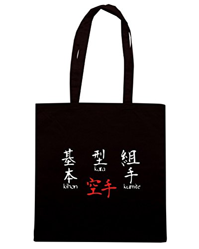 T-Shirtshock - Bolsa para la compra TAM0092 kihon kata kumite dark tshirt Negro