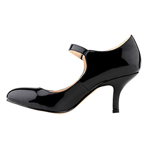 Toe Pumps WanYang en Stiletto Escarpin Danse Bas Femme Talon Noir Pointed Soiree PU Heel Cuir wEUXqUp