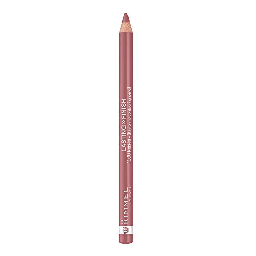 Rimmel Lasting Finish, 1000 Kisses Lip Liner, Mauve Shimmer, 0.04 oz., Long Lasting Bold Lip Liner Pencil, Resists Transferring & Smudging 0.04 Ounce Lip Pencil