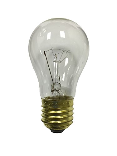 A15 15 Watts Clear Outdoor Light Bulbs, 25-pack, recommended for commercial string lights 130v A15 E26 Medium Base