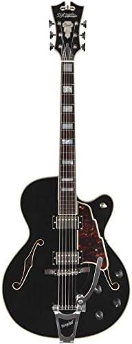 DAngelico Excel 175 Negro EX175BLK – Guitarra eléctrica media caja (+ estuche) – Stock B: Amazon.es: Instrumentos musicales