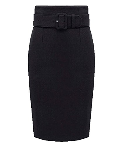 Gonne Donne Stretch Nero Gonna Slim Bodycon Stretta Tubino Oqqd8TxwP