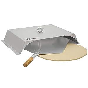 BBQ-Toro Inserto per pizza per barbecue a gas | Acciaio Inox | 56 x 39 cm | Cover pizza con termometro | Cappa per pizza… 1 spesavip