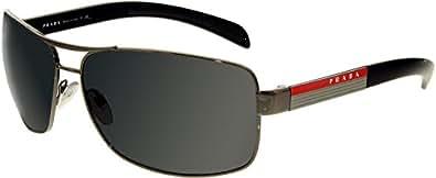Prada Linea Rosa PS 54IS Sunglasses Styles - Gunmetal Frame / Polarized Gray Lenses,