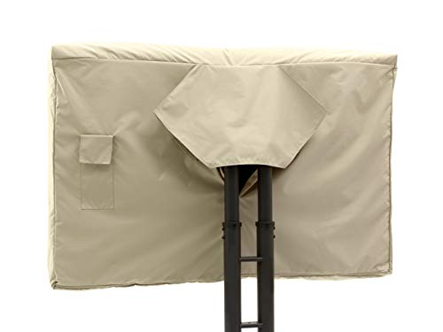 - Covermates - Outdoor TV Cover - Fits 36 to 41 Inch TV's - Elite - 300 Denier Stock-Dyed Polyester - Full Coverage - Front Interior Fleece Lining - 3 Year Warranty - Water Resistant - Khaki