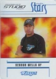 (2005 Studio Stars Baseball Card #43 Vernon Wells)