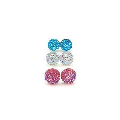 Druzy Earrings Set Of Three
