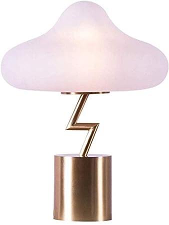 LCK Lámpara de escritorio, lámpara de escritorio, vidrio, sombra ...
