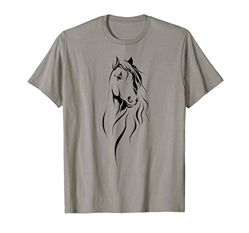 Silhouette of a Lovely Horse drawing Tee shirt For Boy Girl