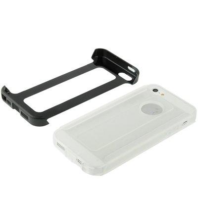 Iphone hülle, 2-farbiger Kunststoff-Schutzrahmen + Translucent TPU Case für iPhone 5 & 5s & SE & SE rutschsicher Telefon-Kasten ( Color : Black )