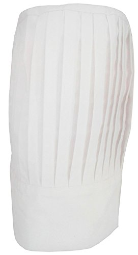 Tall Chef Hat in White