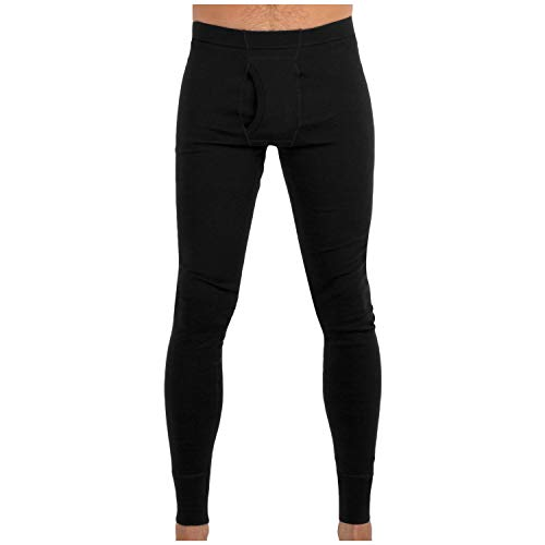 MERIWOOL Men's Merino Wool Midweight Baselayer Bottom - Black/L ()