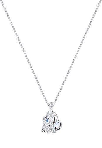 Elli - Collier court - Argent 925 - Cristal Swarovski - 45 cm - 0108110814_45