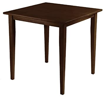 this item winsome wood groveland square dining table in antique walnut finish