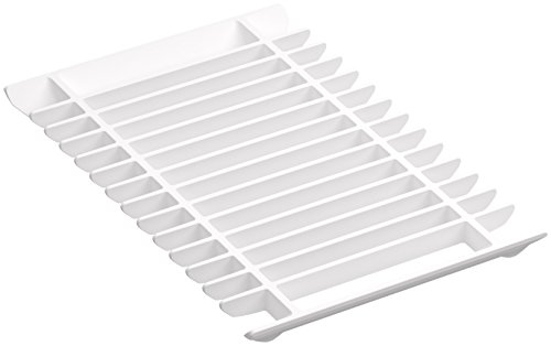 KOHLER K-5542-0 Prolific Multipurpose Grated Rack, White (Multi Purpose Rack)