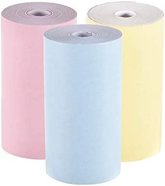 Leslaur Rollo de papel térmico en color 57 * 30 mm (2.17 * 1.18in ...