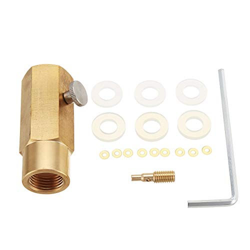 - CO2 Refill Adapter Soda Inflatable Valve Converter for CGA-320 Interface