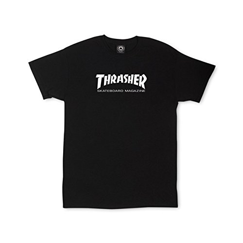 Thrasher Magazine Mag Logo Black Youth T-Shirt - Youth Large by Thrasher