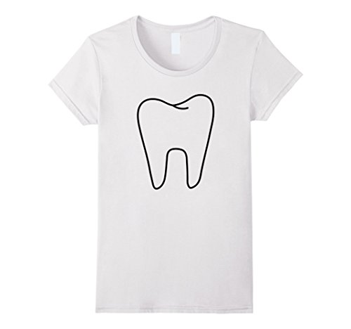 Womens Funny Tooth Fairy White Costume T shirt Medium White (Last Minute Fairy Costume)