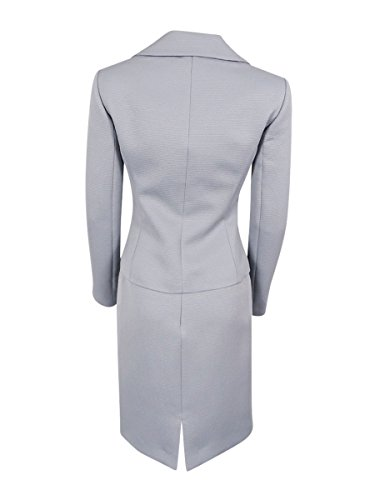 Tahari ASL Women's Petite Faille Skirt Suit with Beading, Granite, 2 Petite by Tahari by Arthur S. Levine (Image #2)