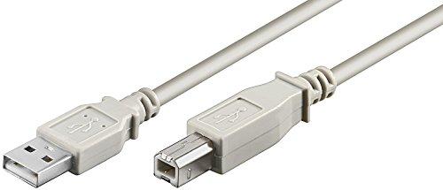 USB Kabel A/B USB 2.0 + 1.1 Stecker A auf Stecker B 3,00m 3,0m 3,0 m 3m 3 m Druckerkabel Anschlusskabel z.B fuer SCANNER grau - von SENSELL