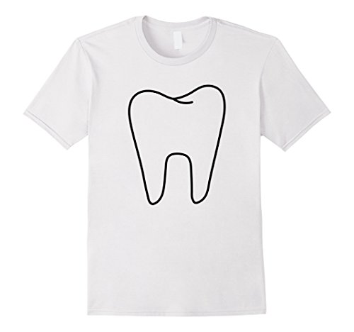 Mens Funny Tooth Fairy White Costume T shirt XL (Male Fairy Costume Ideas)