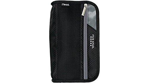 Five Star Xpanz Zipper Carrying Case / Pouch for Pencil, Pen, Supplies - Puncture Resistant, Black/Gray