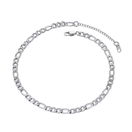 Thin Figaro Chain - PROSTEEL Stainless Steel Figaro Chain Choker Necklaces Women Men Girl Jewelry Trendy Figaro Link Chain Choker Necklace
