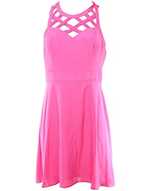 Guess Women's Sleeveless Crisscross Sweetheart Dress