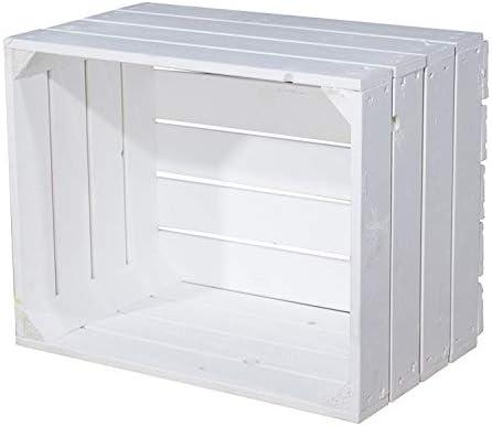 Vintage de Möbel24 GmbH Blanca Manzana Caja Caja de Madera cajón ...