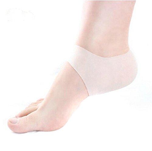 Weiß Silikon Fußpflege Moisturizing Gel Fersen Socken Cracked Fuß Hautpflege-Schutz-Fuss Pediküre Pflege