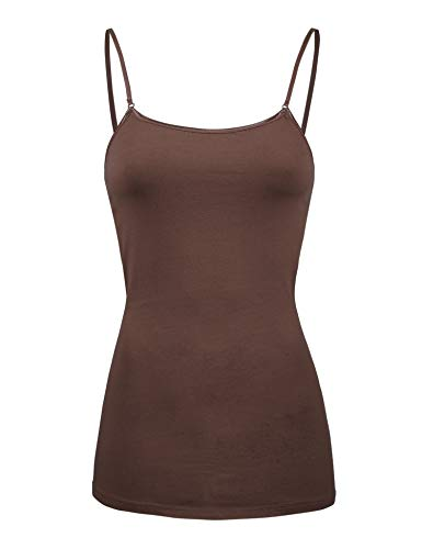 COLOR STORY Womens Basic Camisole Tank Top (2000-LIGHT Brown-S) ()