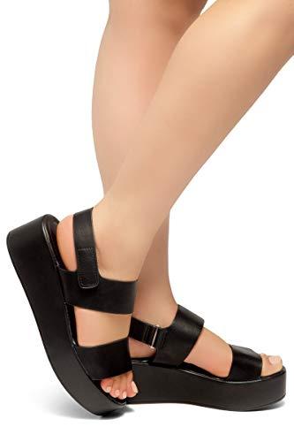 c4d6c6c1f4460 Herstyle Belma Women s Open Toe Ankle Strap Platform Wedge Sandals