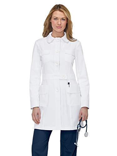 KOI Women's Geneva Long White Lab Coat (Small)
