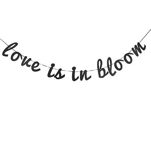 Glitter Love is in Bloom Banner, Bridal Shower Wedding Banner, Wedding String Decorations, Rustic Wedding Decor, Wedding Engagement Sign Photo Prop.