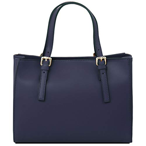 Leather Tuscany Ballet A Mano Aura Borsa Blu In Scuro Pelle Pink FwwPqadx